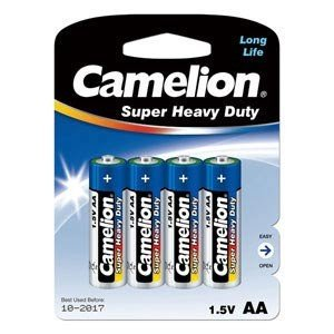 Camelion カメリオン 単4形マンガン電池 4本パック Super Heavy Duty Batteries 4P ブルー R03P-BP4B|bp-s