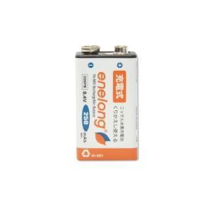 JTT エネロング 大容量 9V角型ニッケル水素充電池 006P enelong EL25D6P1P|bp-s