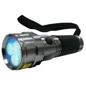 コンテック 375nm日亜化学製紫外線UV-LED3灯パワーブラックライト KONTEC PW-UV343H-02 UVレジン・ジェルネイルの硬化、夜光ルアーの蓄光、猫のおしっこの発見|bp-s