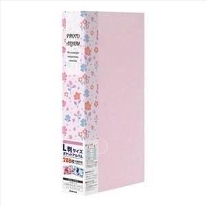 ナカバヤシ Nakabayashi フォトホルダー 3段ポケット台紙 PHE2288A-P  花柄 ピンク bp-s