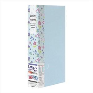 ナカバヤシ Nakabayashi フォトホルダー 3段ポケット台紙 PHE2288A-B  花柄 ブルー bp-s