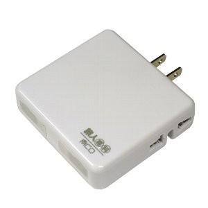 ミヨシ MBP-U2P/WH ホワイト 旅人専科 海外対応AC+USBモバイルタップ bp-s
