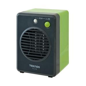 テクノス ミニセラミックファンヒーター 300W グリーン TEKNOS TS-310
