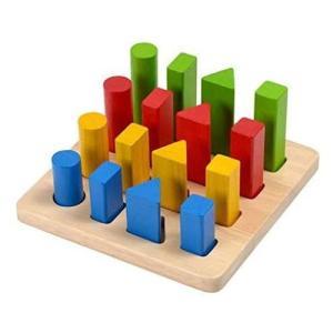 PLANTOYS  プラントイ 幾何学ペグボード 木のおもちゃ 知育玩具 木製玩具 リハビリ 指先運動 脳活 グッズ 室内遊び|bp-s