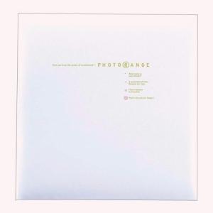 ナカバヤシ フォトアルバム フエルアルバム 白フリー台紙 Lサイズ 20枚 フォトレンジ ホワイト 20L-92-W|bp-s