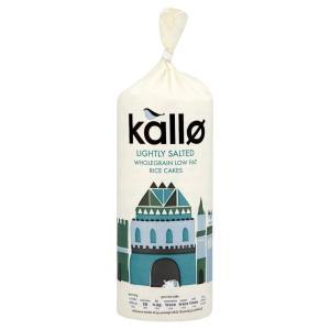 カロ ライスケーキ 低脂肪 Kallo Low Fat Rice Cakes (130g) ヘルシースナック【英国直送品】