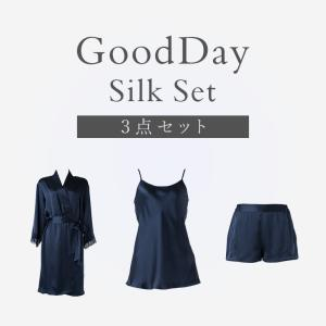 数量限定 100%シルクウェア ナイティセット ブラデリスニューヨーク GoodDay Silk S...