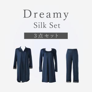 数量限定 100%シルクウェア ナイティセット ブラデリスニューヨーク Dreamy Silk Se...