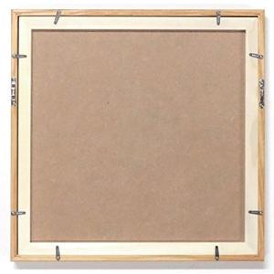同志舎 正方形額縁 30角(300×300mm) L型 アクリル仕様 (木地)|braggart4