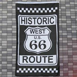 オールドアメリカン ROUTE66(ルート66/看板)フラッグ タペストリー 壁掛け アメリカ 輸入 バーグッズ バー カフェ ガレージ ア|braggart4