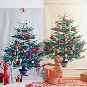 IKEA イケア クリスマス ツリー タペストリー もみの木 壁面 christmas tree