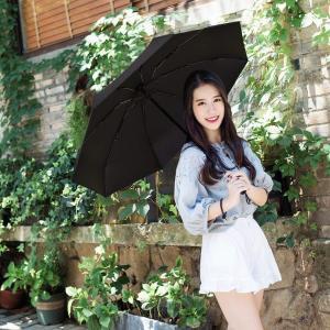 TAIKUU 超軽量 折り畳み日傘 UPF50+ UVカット率100% 日光を反射し木陰の涼しさ 遮光率100% 遮熱効果 折りたたみ日傘|braggart4