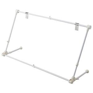 エアコンハンガー 室内物干しハンガー 幅70cm?90cm 折りたたみ可 ホワイト(白)