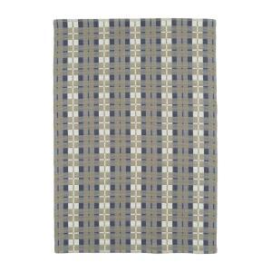 スミノエインド綿ラグオーガニックチェック140×200cmグレー11741570
