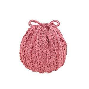 オリムパス製絲 編み物キット エミーグランデ ロマンティックレース ショートフリルのラウンドポーチ EG-100|braggart4