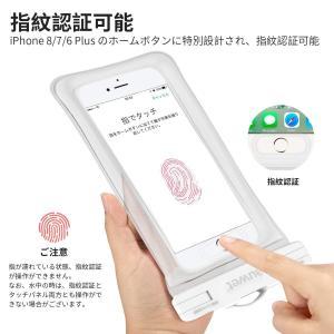 防水ケース Auwet指紋認証対応iPhone X/8/7/6/Plus 水面上にフローティング 海水浴 潜水 お風呂 水泳 砂浜 水遊びな|braggart4