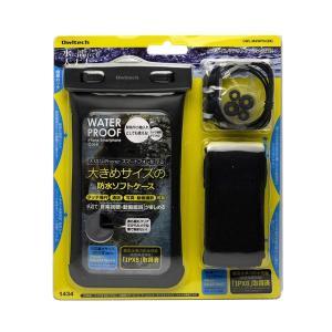 オウルテック iPhone6s Xperia GALAXY Note3も入る イヤホンが繋げる大きめサイズのスマートフォン用防水ケース 防水|braggart4