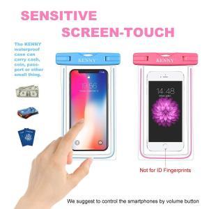 防水ケース スマホ用 Kenny防水携帯電話ケースIPX8防水規格4セット互換性 スマホ 6インチ以下 タッチ可能 iPhoneX iPho|braggart4