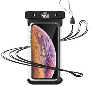 YOSH強化防水ケーススマホ用 携帯防水ケース 指紋認証・iphoneX顔認証 対応 IPX8認定 IPhone /Android等6.3イ|braggart4