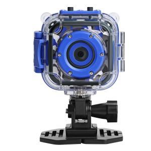 DROGRACE キッズカメラ IP68防水30Mまで 1.77インチ 1080P録画 収納ケース付 日本語説明書 迷彩柄 ブルー|braggart4