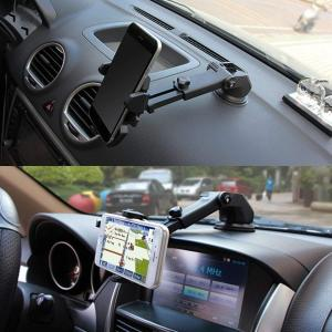 車載ホルダー 車載スタンド 強力ゲル吸盤式 伸縮アーム繰り返し使えるゲル吸盤/360度回転で自由自在/フラップケース対応 - 全機種対応|braggart4