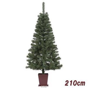 東京ローソク クリスマスツリー カナディアンヌードツリー 飾りなし 210cm|braggart4