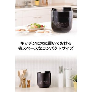 siroca 電気圧力鍋 SP-D131 ブラウン圧力/無水/蒸し/炊飯/スロー調理/温め直し/コン...