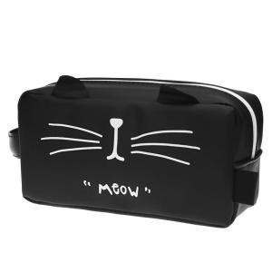 MinniLove 超大容量猫型筆袋 筆箱 ペンケース 収納袋 化粧品収納パック スクラブ防水シリコ...