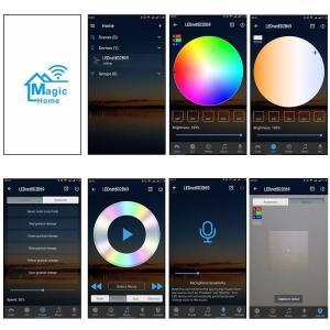 FVTLED 12V Mini RGB Wifi コントローラー ディマー Android/IOS ...