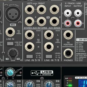 ベリンガー アナログミキサー USB オーディオインターフェース 8ch エフェクター XENYX ...
