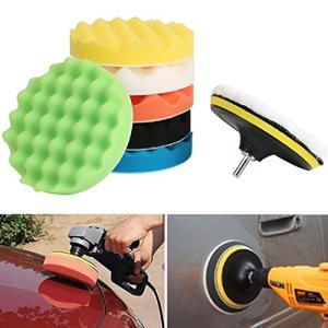 ポリッシャー スポンジ バフ 電動ドリル用 8点セット 洗車 ワックスがけ 研磨 塗装 125mm 150mm 180mm 3サイズ選べる braggart4