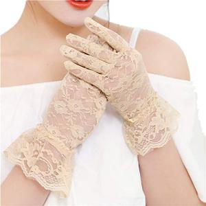 Kingsie レース 手袋 エレガント UVカット 紫外線対策 日焼け止め レディース グローブ 運転 ウエディング 結婚式 成人式 花嫁 braggart4