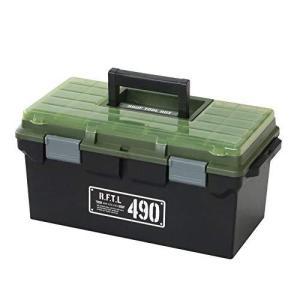 JEJアステージ 収納ボックス Xシリーズ ルーフツールBOX 490X ブラックグリーン 幅49×奥行25.3×高さ23.3cm|braggart4