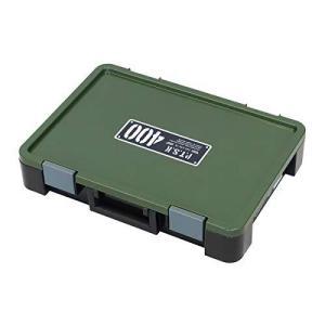 アステージ 収納ボックス Xシリーズ パーツストッカー PS-400X 付属仕切板15枚付き ブラックグリーン 幅40.5×奥行29×高さ7|braggart4