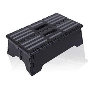 踏み台 ステップ 折りたたみ C-POSH コンパクト 収納 足置き 乗り降り 椅子 デスク下 持ち運び 洗面所 黒 braggart4