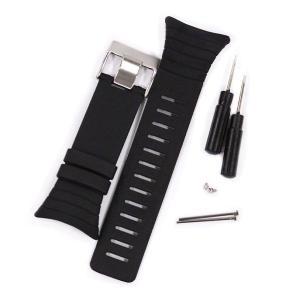 スントコア SUUNTO CORE オールブラック 汎用バンド ベルト交換 バンド交換 25mm幅 シリコン ラバー ブラック 2色 専用工具付き 腕時計 工具|brain-products