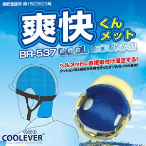 送料無料ン!ヘルメットのインナー「BR-537 爽快くんメット」頭 ひんやりパット 速乾素材ダブルラッセル&クールエバー使用|brain8