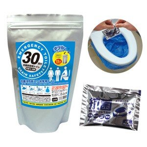 BR-906抗菌ヤシレット Ag抗菌性凝固消臭剤 サッと固まる非常用トイレ30回分(凝固剤のみ)ヤシ殻活性炭入り|brain8