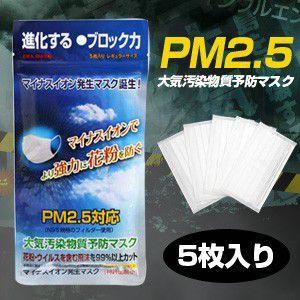 PM2.5対応(N95規格フィルター使用) 大気汚染物質予防マスク ERA MASK 5枚入り」|brain8