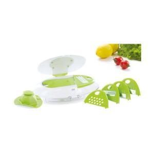 「D-STYLIST キッチンスライサーセット [KK-00136]」 万能 野菜 千切り 大根おろし 安全ホルダー付きで安心|brain8|03