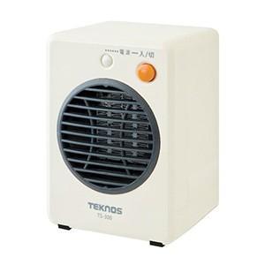TEKNOS モバイルセラミックヒーター 300W ホワイト TS-300、TS-310、TS-320