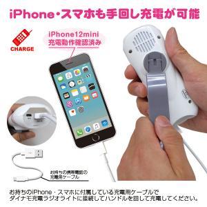 緊急時に iPhone6/スマホも充電可能  (USB 手回し充電ラジオライト) 手回し充電 ラジオ 防災セット ダイナモラジオライト 手回し充電ラジオ|brain|03