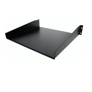 StarTech.com 標準ユニバーサル サーバーラックキャビネット用棚板/収納棚 ブラック 耐荷重20kg 冷延鋼板使用 CABSHELF|brainpower