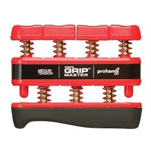 【国内正規輸入品】Prohands プロハンズ ハンド・エスクササイザー GRIP MASTER グリップマスター GM-14002ミディアム/RD|brainpower