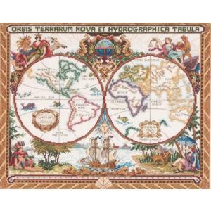 Janlynn クロスステッチキット Olde World Map 【並行輸入品】            Janlynn Cross Stitch K|brainpower