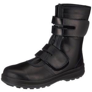 [シモン] 安全靴 長編上 JIS規格 耐滑 快適 革製 高級 8538黒 黒 27.5 cm 3E|brainpower