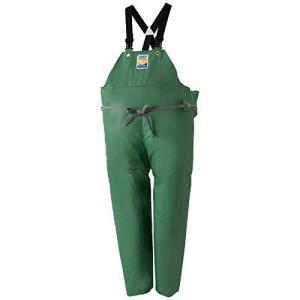 マリンエクセル(MARINE EXCELL) 産業用レインウェア 胸当付ズボン膝当て付(サスペンダー式) 12063361 グリーン LL|brainpower