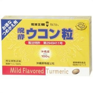 醗酵ウコン粒 500粒×2パック (詰め替え用)|brainpower