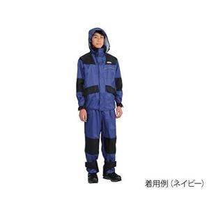 [ドキュメント] ハードレインウェア上下セット 防水 撥水 仕事合羽 KM-001 ネイビー 日本 M (日本サイズM相当)|brainpower