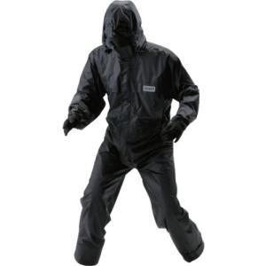 川西(KAWANISHI) レインウエア 透湿防水・つなぎ服 ブラック 3L #3630|brainpower